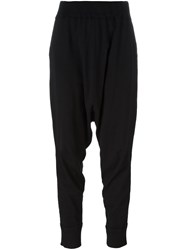 Rundholz Drop Crotch Long Trousers Black