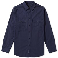 Rag And Bone Jack Twill Overshirt Blue