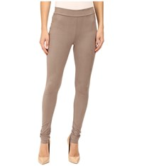 Wolford Velour Leggings Taupe Grey Women's Workout Bronze