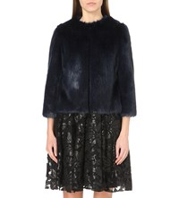 Ted Baker Forysia Faux Fur Jacket Mid Blue
