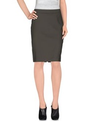 Alviero Martini 1A Classe Knee Length Skirts Military Green