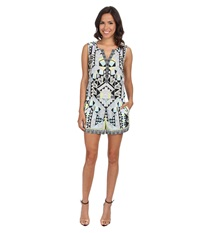 Hale Bob Setai Nights Romper Blue Women's Jumpsuit And Rompers One Piece