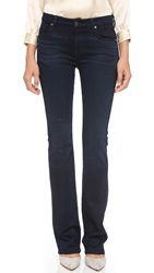 7 For All Mankind Kimmie Boot Cut Jeans Slim Illusion Luxe Rich Blue