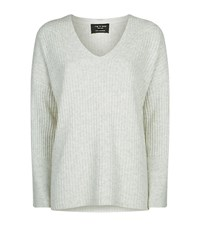 Rag And Bone Phyllis Cashmeres V Neck Sweater Female Grey
