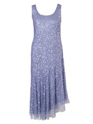 Chesca Matt Vermicelli Sequin Mesh Dress Lilac