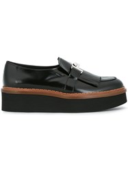 Tod's Fringed Platform Loafers Black