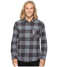 Quiksilver Motherfly Classic Woven Button Up Flannel Tarmac Men's Clothing Olive