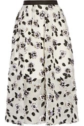Lela Rose Fil Coupe Midi Skirt