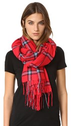Standard Form Oversize Window Scarf Red