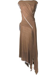 Scanlan Theodore Tied Wrap Maxi Dress Brown