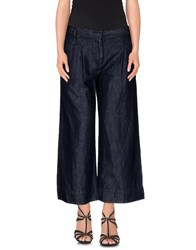 Adele Fado Denim Denim Capris Women Blue