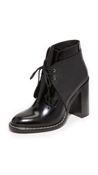 Maison Martin Margiela Lace Up Booties Black Black