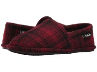 Woolrich Chatham Chill Red Hunting Plaid Wool Men's Slippers