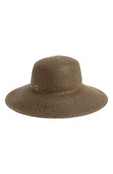 Women's Eric Javits 'Hampton' Straw Sun Hat Brown Antique