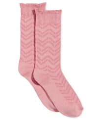 Charter Club Chevron Striped Socks Only At Macy's Soft Pink