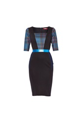Maiocci Collection Tarten Dress With Ribbon Detailing Blue