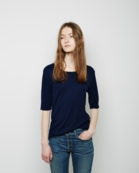 La Garconne Moderne The New Didion Rib Tee Navy