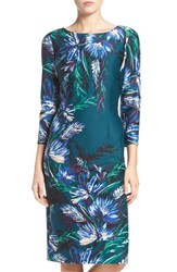 Eliza J Women's Floral Print Ponte Sheath Dress