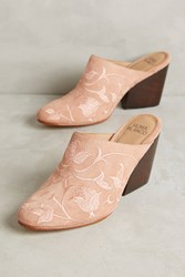 Anthropologie Huma Blanco Dorotea Mules Pink