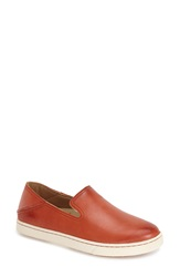Olukai 'Kailua' Slip On Sneaker Women Blood Orange Orange Leather