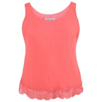 Chesca Scallop Lace Top Red Coral
