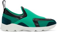 Maison Martin Margiela Green And Blue Slip On Sneakers