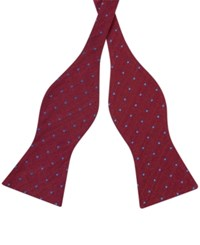 Tommy Hilfiger Men's Dot Print To Tie Bow Tie Red