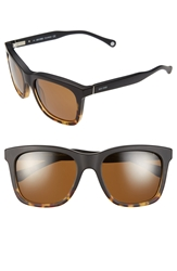 Jack Spade 'Wagner' 55Mm Polarized Dip Dye Sunglasses Matte Tortoise Fade Brown