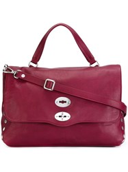 Zanellato Stud Detail Tote Pink And Purple