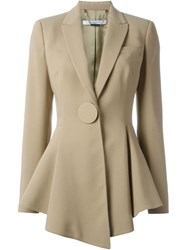 Givenchy Flared Cadi Jacket Nude And Neutrals