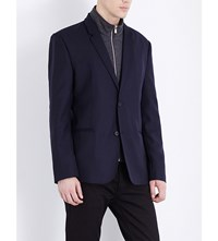 The Kooples Fitted Wool Jacket Navy