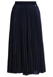 Escada Sport Raduna Pleated Skirt Dark Velvet Dark Blue