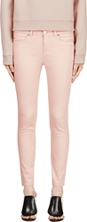 Alexander Mcqueen Blush Cropped Denim Trousers