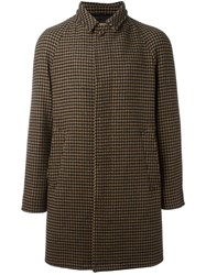 Sealup Houndstooth Pattern Coat Brown