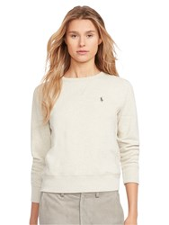 Polo Ralph Lauren Round Neck Fleece Sweatshirt Soft Flannel Heather