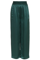 Acne Studios Heart Satin Wide Pant Green