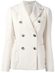 Lardini Double Breasted Blazer White