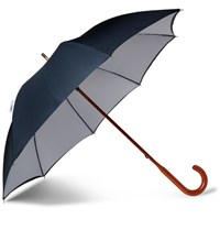 London Undercover Maple Wood Handle Twill Umbrella Navy