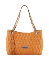 Valentino By Mario Valentino Verra D Quilted Leather Tote Bag Miele