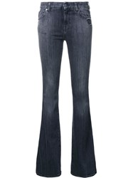 7 For All Mankind Flared Jeans Black