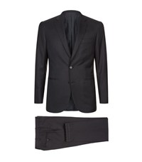 Brioni Madison Two Piece Suit Male Charcoal