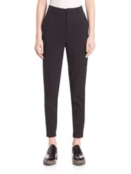 Set Mid Rise Ankle Zipper Trousers Black