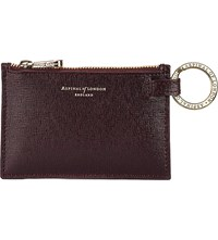 Aspinal Of London Small Leather Pouch Brown
