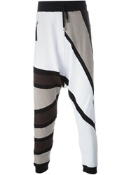 Unconditional Tribal Stripes Track Pants White