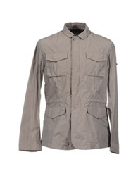 Geox Mid Length Jackets Grey