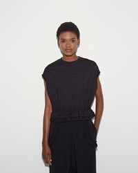 Simone Rocha Sleeveless Bubble Tee Black