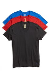 Polo Ralph Lauren Men's V Neck T Shirt Pacific Royal Black