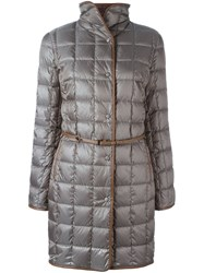 Fay Belted Quilted Coat Grey