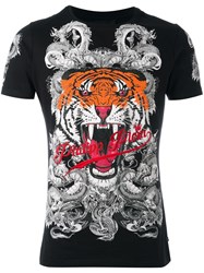 Philipp Plein 'Philipp Tiger' T Shirt Black