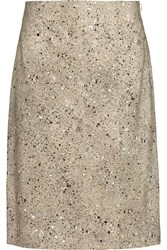 Jonathan Saunders Vida Silk And Wool Blend Skirt Nude